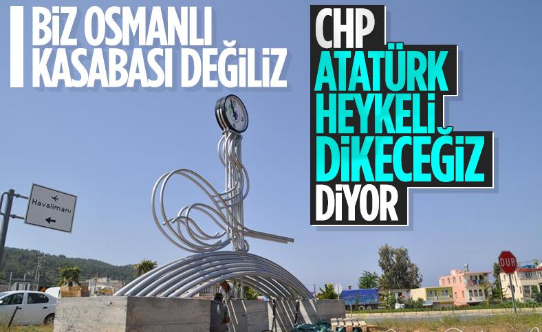 Antalya'da Osmanlı tuğrası kaldırıldı
