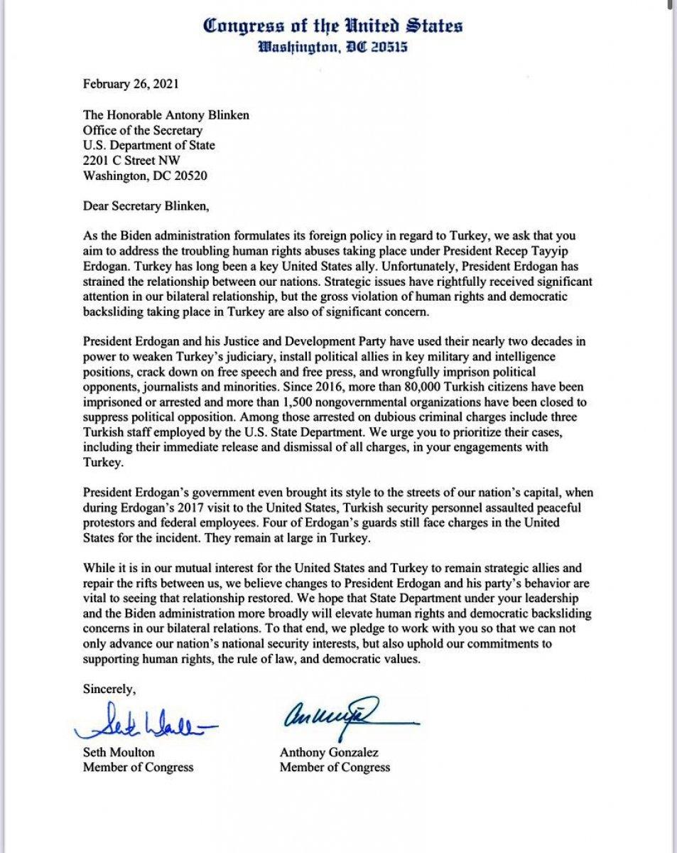 ABD de 170 vekil Biden ın Türkiye ye baskı uygulamasını istedi #1