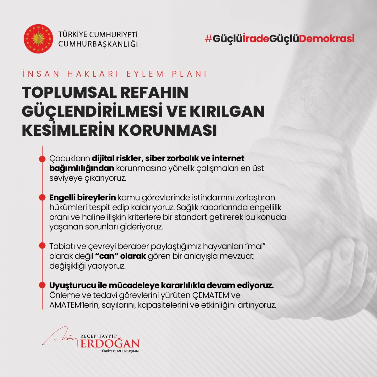 Erdoğan, İnsan Hakları Eylem Planı'nın 11 ilkesini açıkladı #8