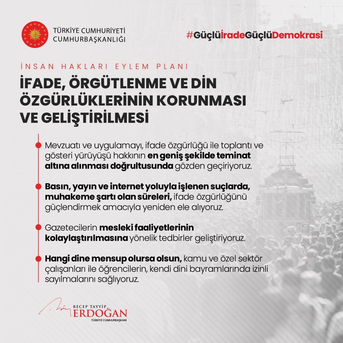 Erdoğan, İnsan Hakları Eylem Planı'nın 11 ilkesini açıkladı #4