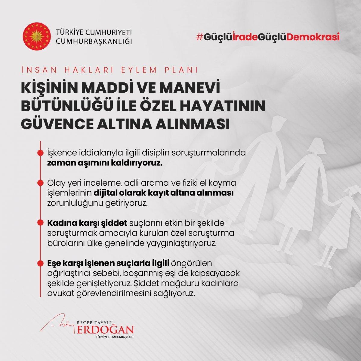Erdoğan, İnsan Hakları Eylem Planı'nın 11 ilkesini açıkladı #6