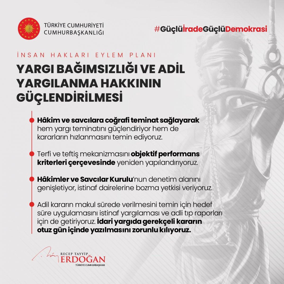 Erdoğan, İnsan Hakları Eylem Planı'nın 11 ilkesini açıkladı #2
