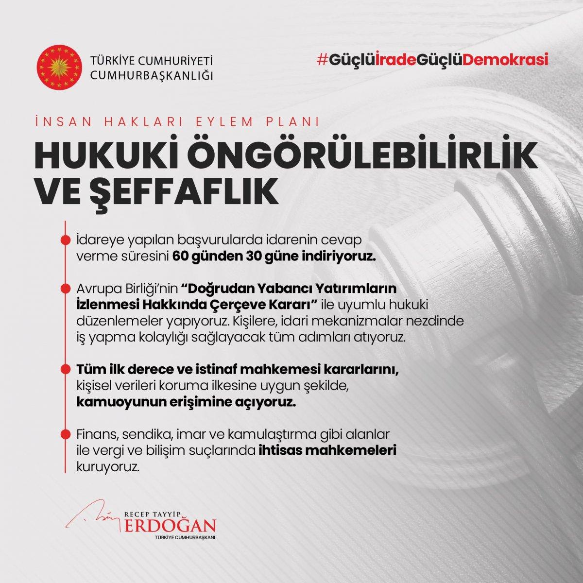Erdoğan, İnsan Hakları Eylem Planı'nın 11 ilkesini açıkladı #3