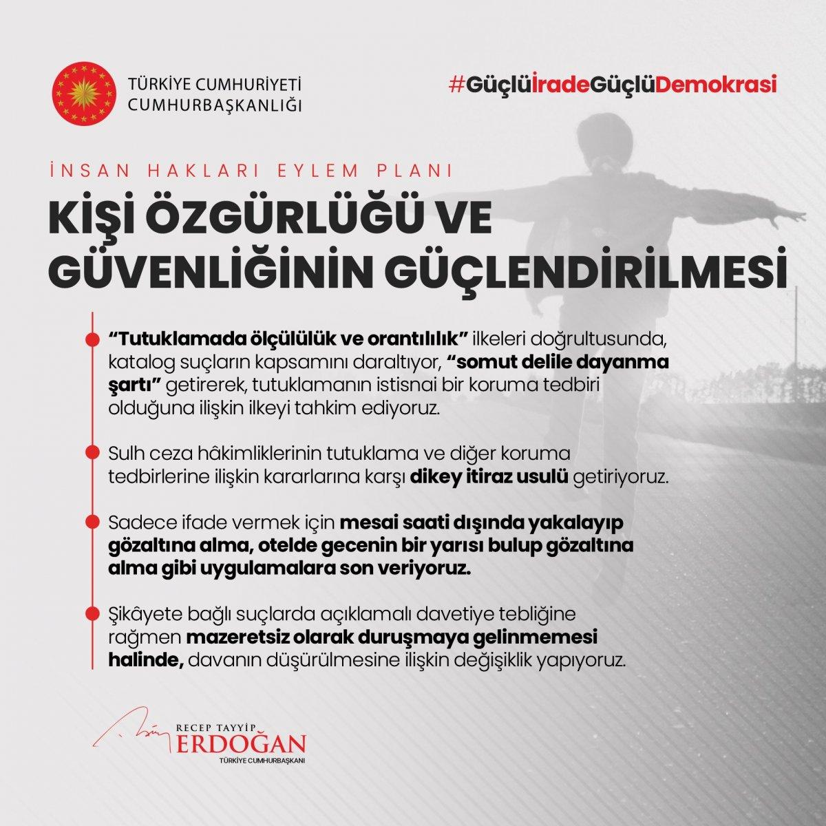 Erdoğan, İnsan Hakları Eylem Planı'nın 11 ilkesini açıkladı #5