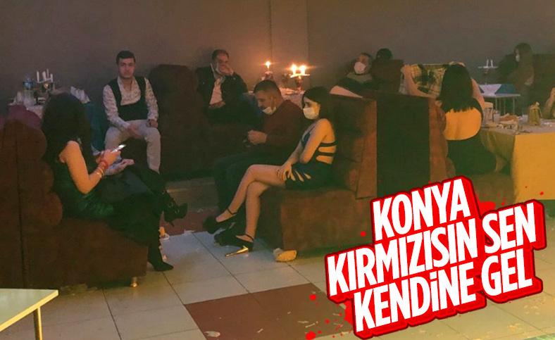 Kırmızı listedeki Konya'da eğlence merkezine baskın
