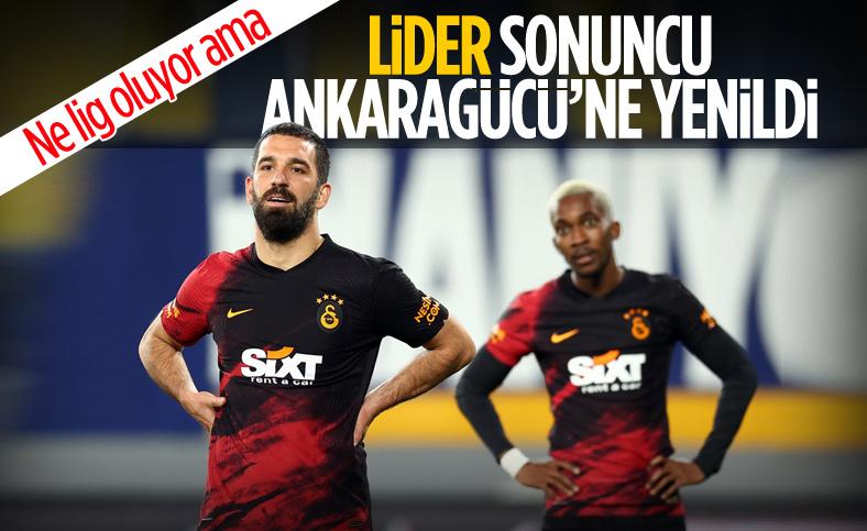 Galatasaray deplasmanda Ankaragücü'ne mağlup oldu
