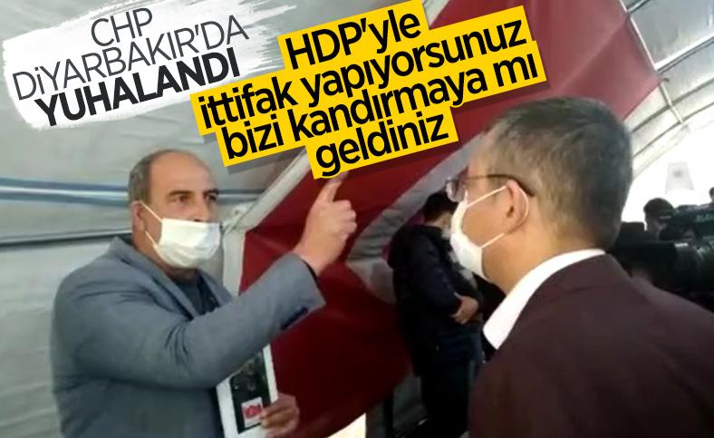 Evlat nöbetindeki ailelerden CHP heyetine tepki