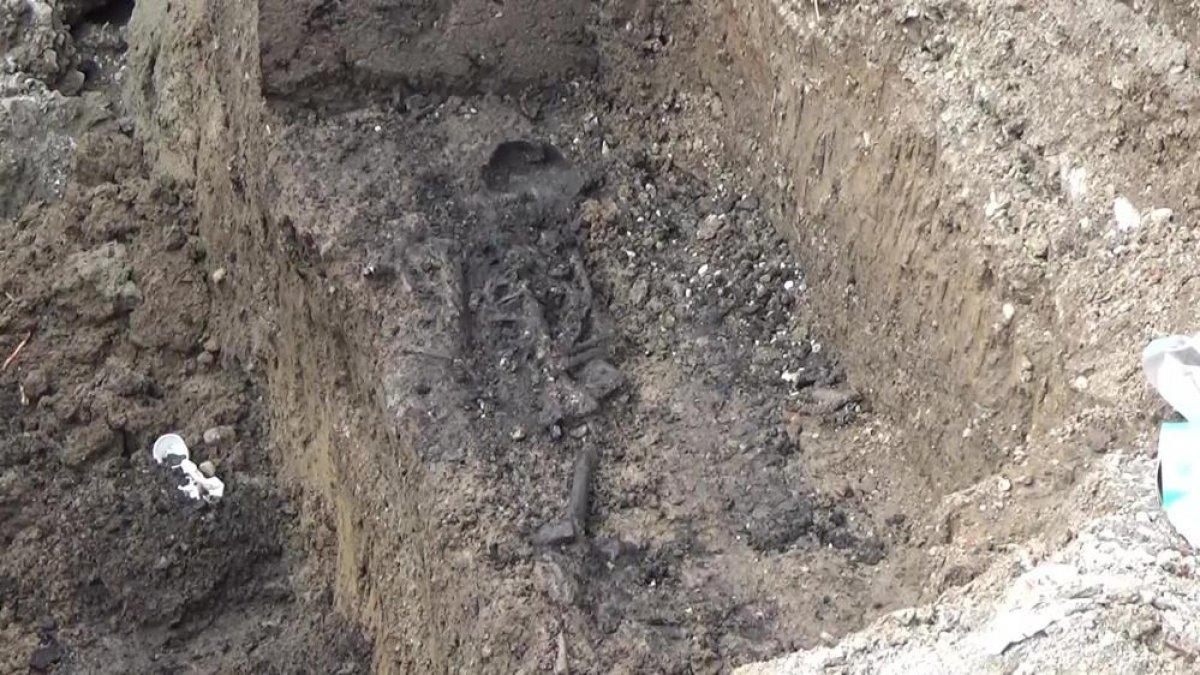 Düzce'de bin 500 yıllık Bizans mezarı bulundu #2