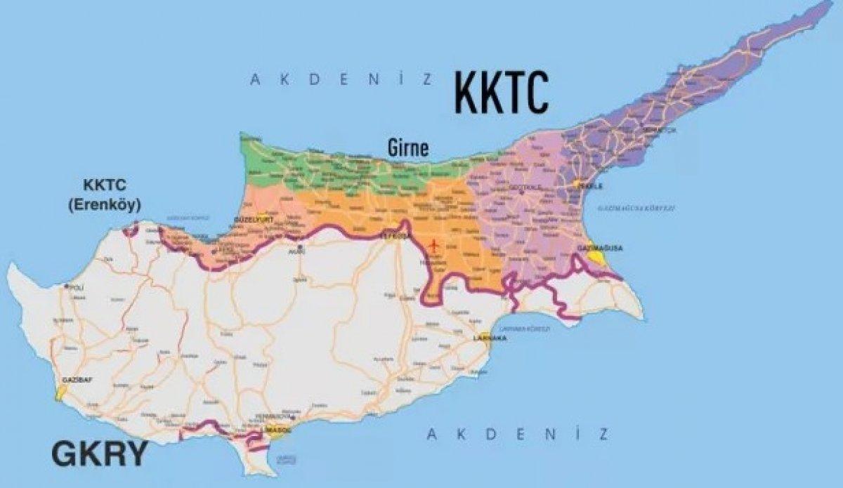 GKRY den provokasyon: KKTC tarafında askeri birliğe ikmal konvoyunu engellediler #2