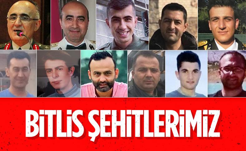 Bitlis'teki kazada şehit olan askerlerin kimlikleri belli oldu