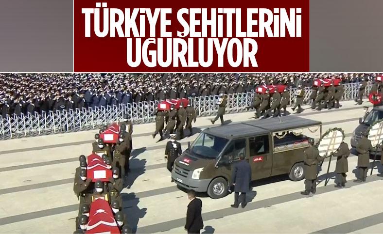 Bitlis şehitleri için Ankara'da devlet töreni