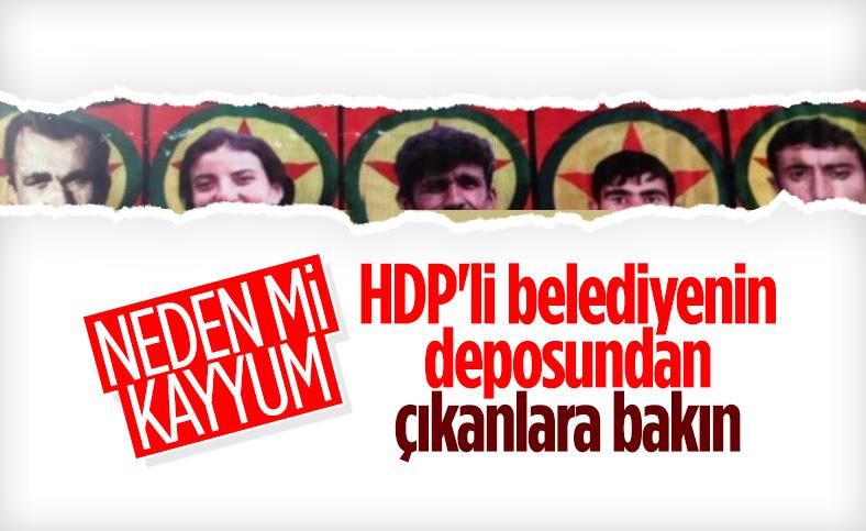 İpekyolu Belediyesi'nin binasında terörist elebaşı Öcalan'ın fotoğrafları ele geçirildi