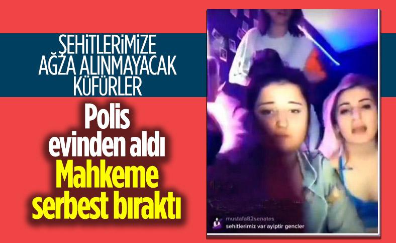 Samsun'da şehitlere hakaret eden genç kız serbest kaldı