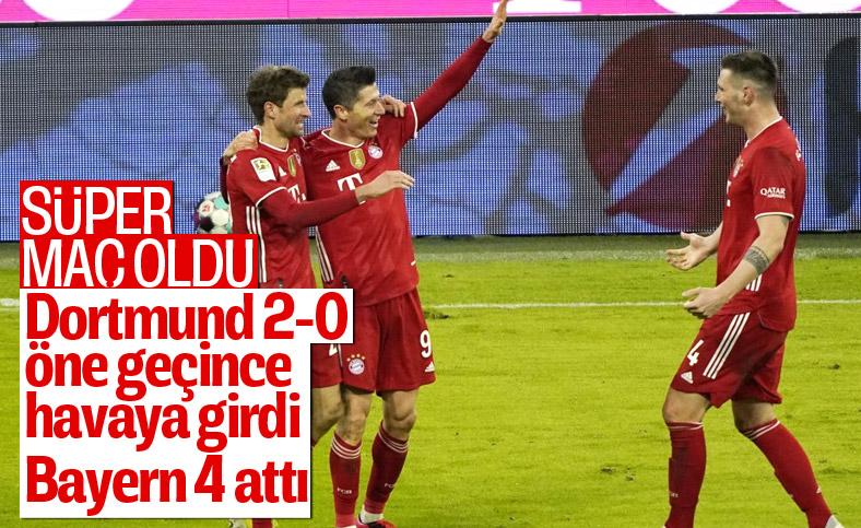 Bayern Münih geriden gelerek Borussia Dortmund'u Levandowski ile yendi
