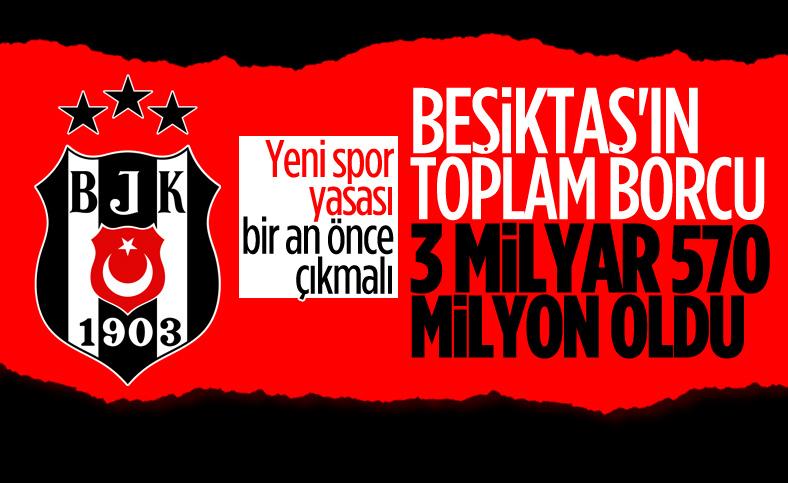 Beşiktaş'ın toplam borcu