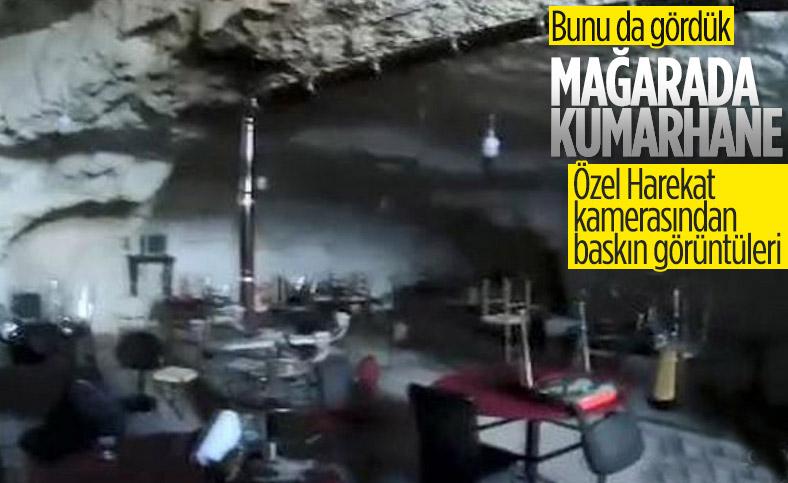 Şanlıurfa'da mağaraya baskın yapan polis kumarhaneyle karşılaştı