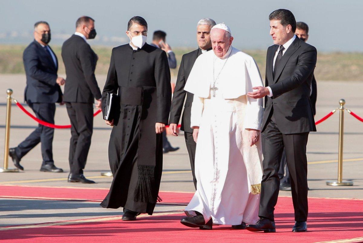 Neçirvan Barzani, Papa yı karşıladı #2