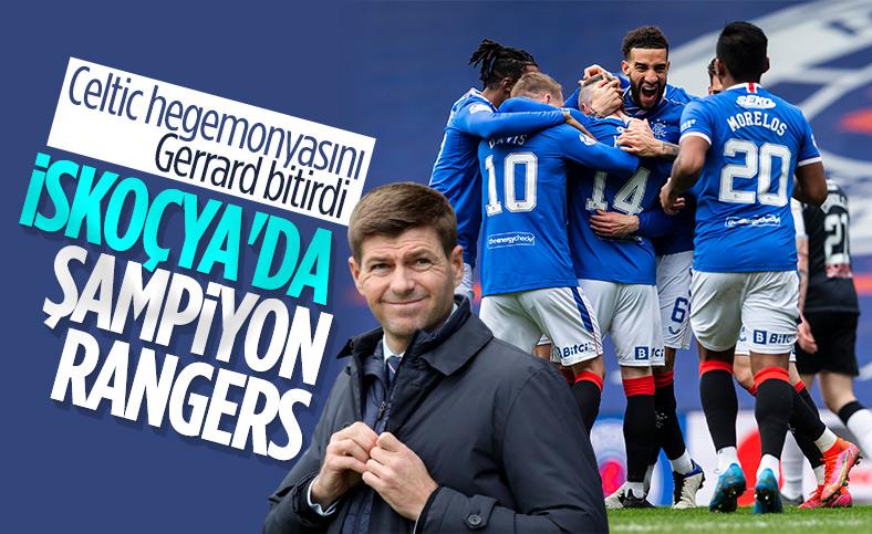 Steven Gerrard'ın Rangers'ı bitime 6 hafta kala şampiyon