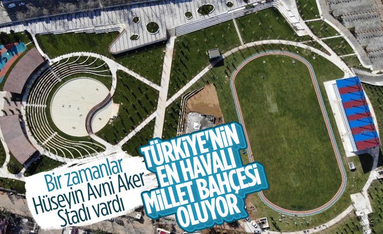 Türkiye'nin ilk spor temalı millet bahçesi