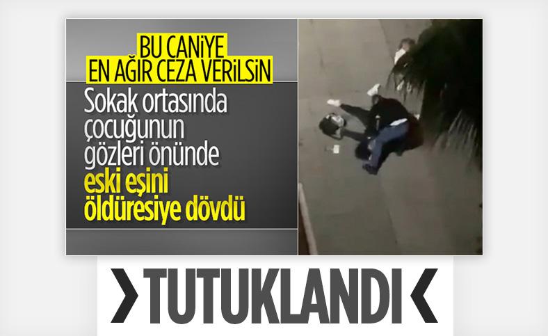 Samsun'da eski eşini, çocuğunun yanında döven şahıs tutuklandı
