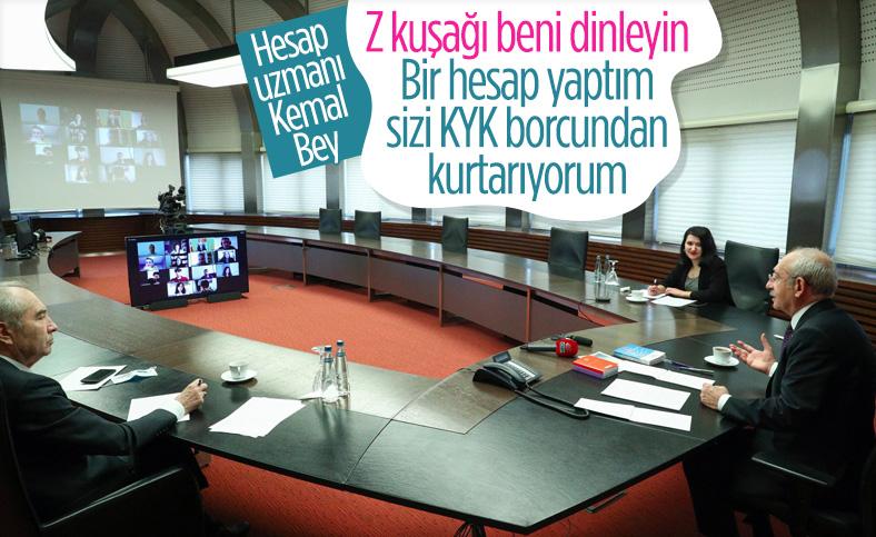 Kemal Kılıçdaroğlu, gençlere vaatlerde bulundu