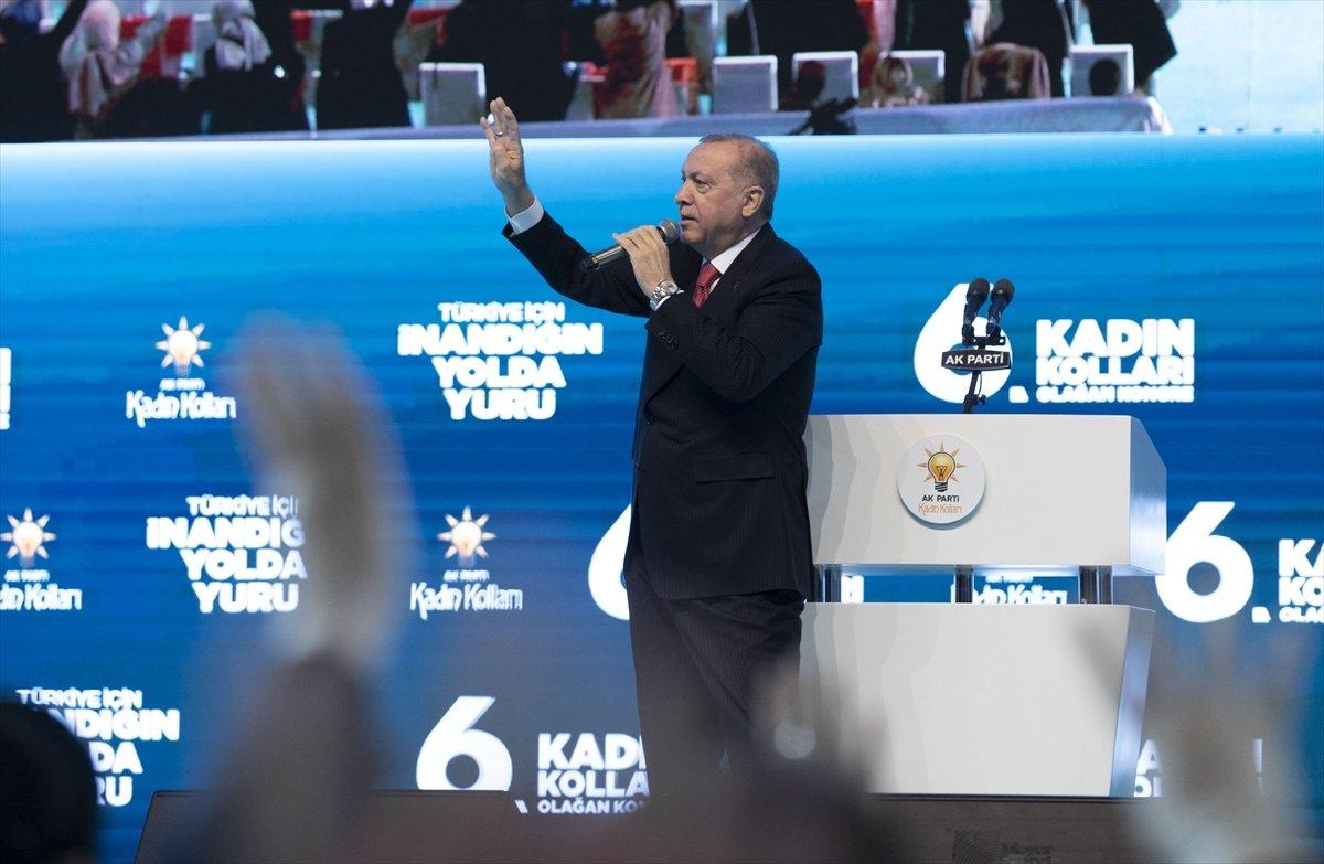 Cumhurbaşkanı Erdoğan, AK Parti Kadın Kolları Kongresi nde konuştu #11