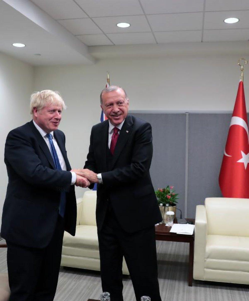 Cumhurbaşkanı Erdoğan, Boris Johnson la görüştü #1
