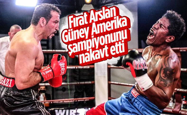 Fırat Arslan, Güney Amerika şampiyonunu nakavt etti