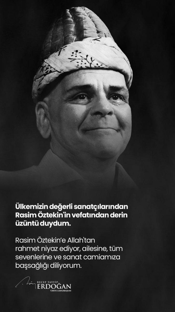 Cumhurbaşkanı Erdoğan: Rasim Öztekin e Allah tan rahmet niyaz ediyorum #1