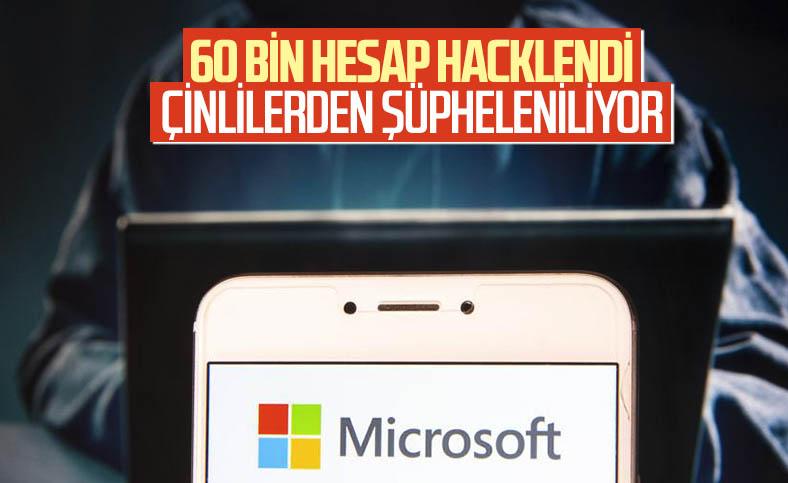 Siber saldırı nedeniyle 60 bin Microsoft hesabı hacklendi