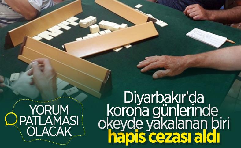 Diyarbakır'da okey oynayan kişiye 1 ay 20 gün hapis cezası