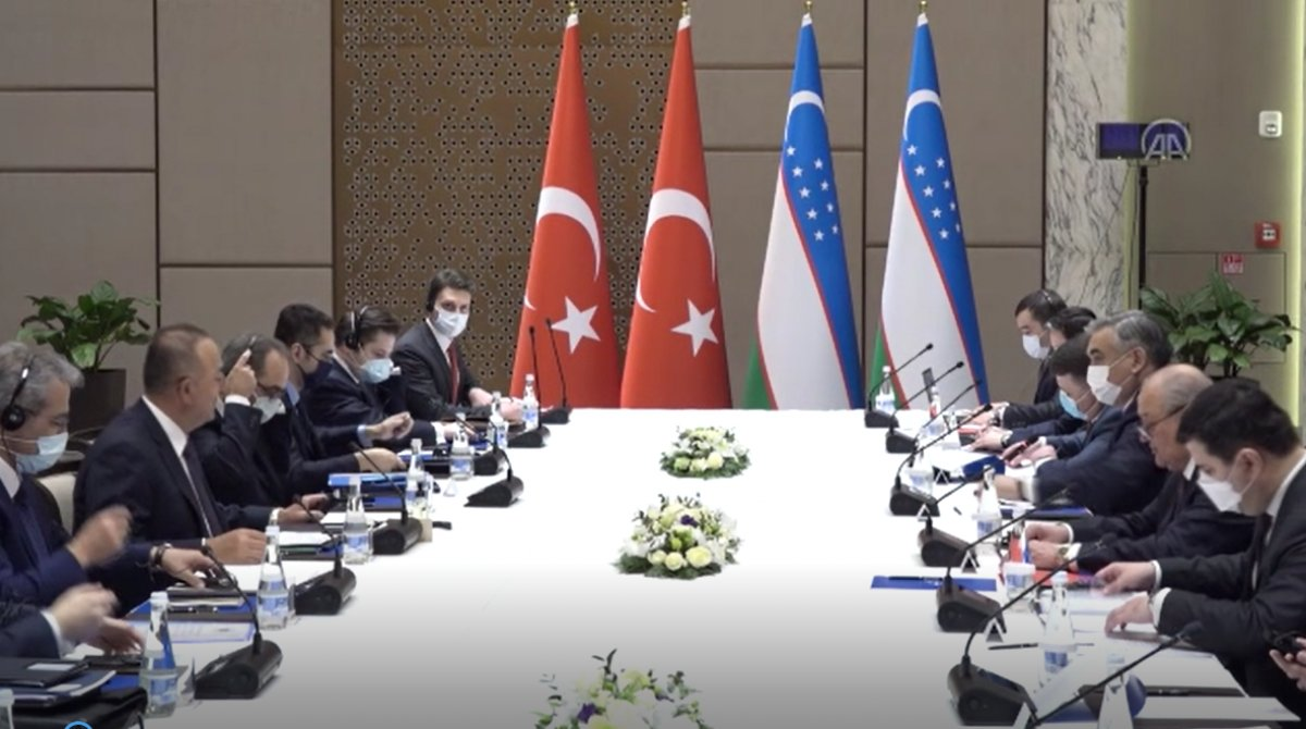 Çavuşoğlu, Özbekistan da mevkidaşı Abdülaziz Kamilov ile görüştü #1