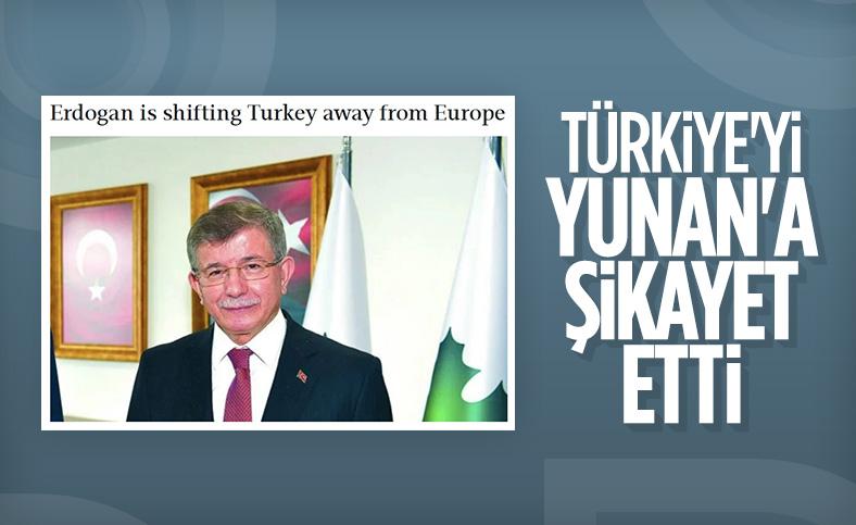 Ahmet Davutoğlu, Türkiye'nin dış politikasını Yunan basınına şikayet etti