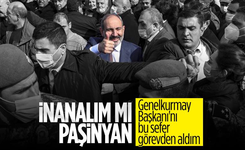 Ermenistan'da Paşinyan, genelkurmay başkanını görevden aldı