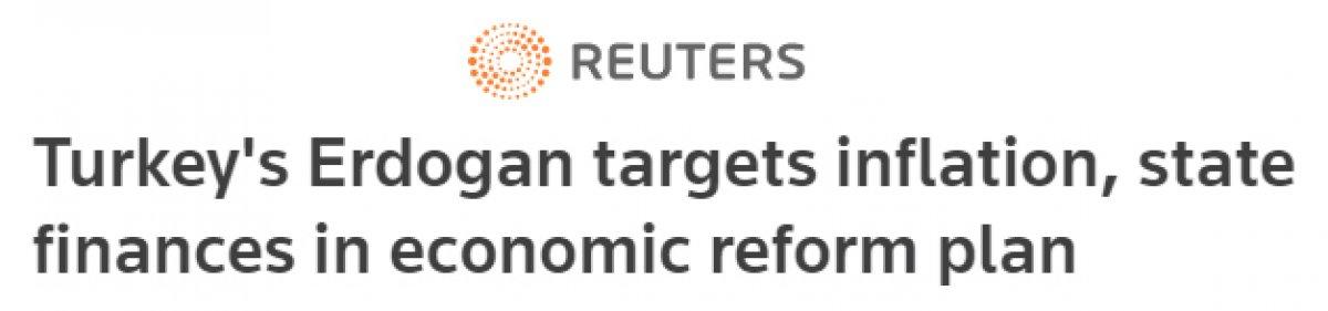 Cumhurbaşkanı Erdoğan ın açıkladığı Ekonomi Reform Paketi dış basında #3