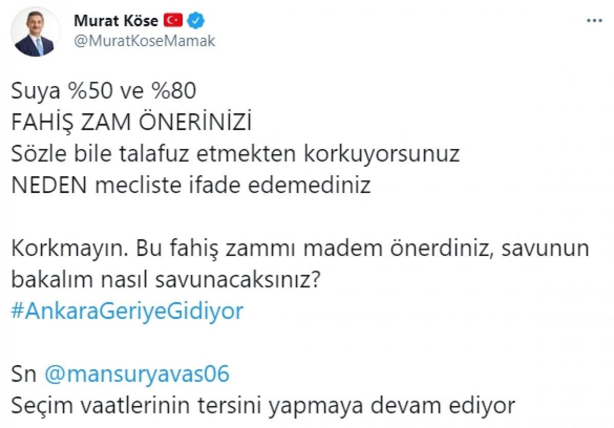Ankara Büyükşehir Belediyesi nin suya zam teklifi reddedildi #1