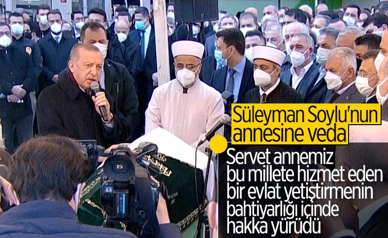 Cumhurbaşkanı Erdoğan, Servet Soylu'nun cenaze törenine katıldı