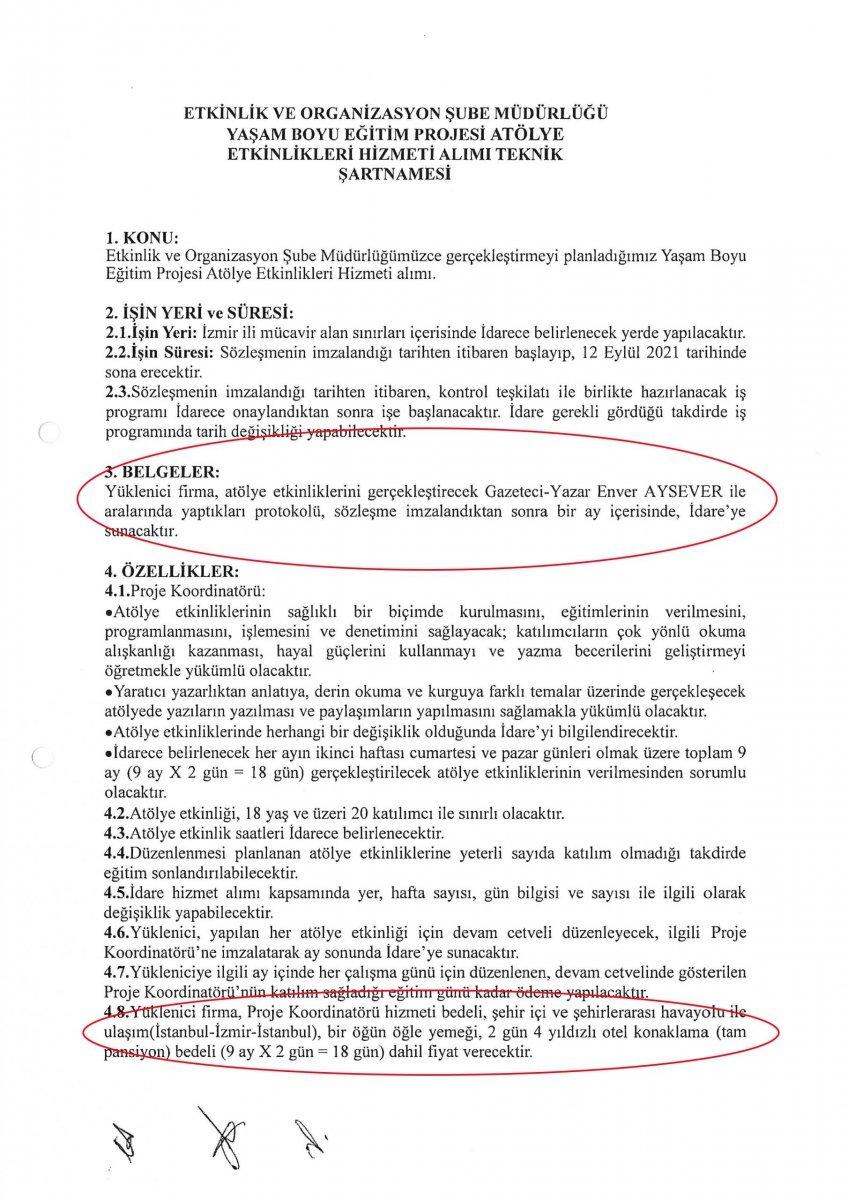 İzmir Büyükşehir Belediyesi, Enver Aysever in ihalesini iptal etti  #5