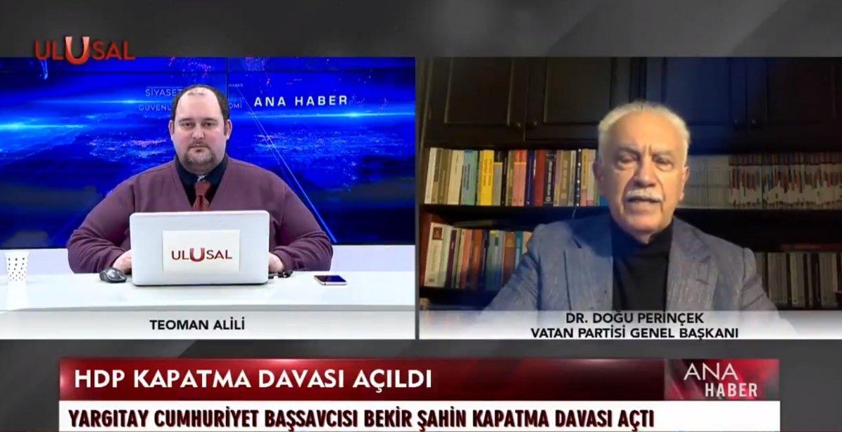 Doğu Perinçek HDP nin kapatılması davasını yorumladı #1