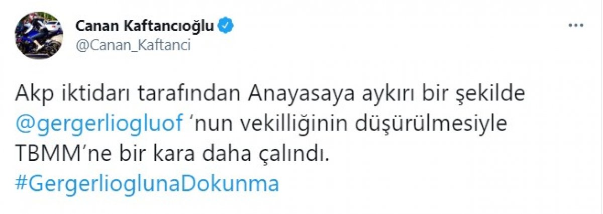 Canan Kaftancıoğlu, vekilliği düşürülen Ömer Faruk Gergerlioğlu na sahip çıktı #1