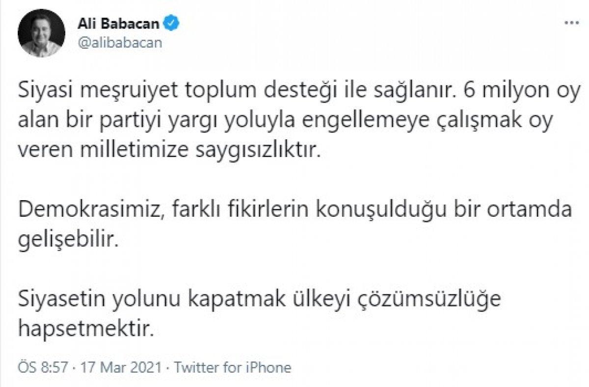 Ali Babacan dan HDP açıklaması #1