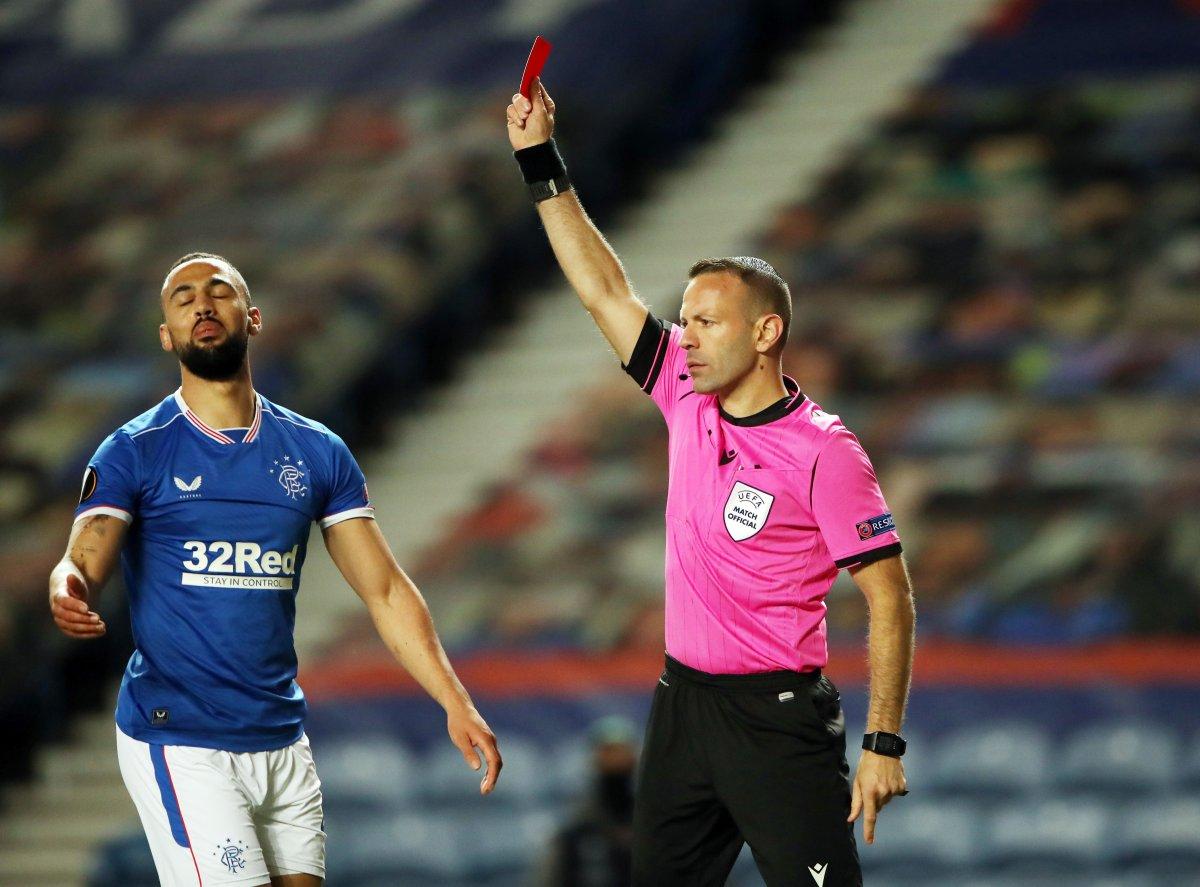 Rangers, Slavia Prag karşılaşmasındaki faul maça damga vurdu #6