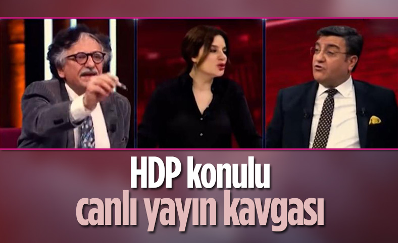 Canlı yayında HDP kavgası