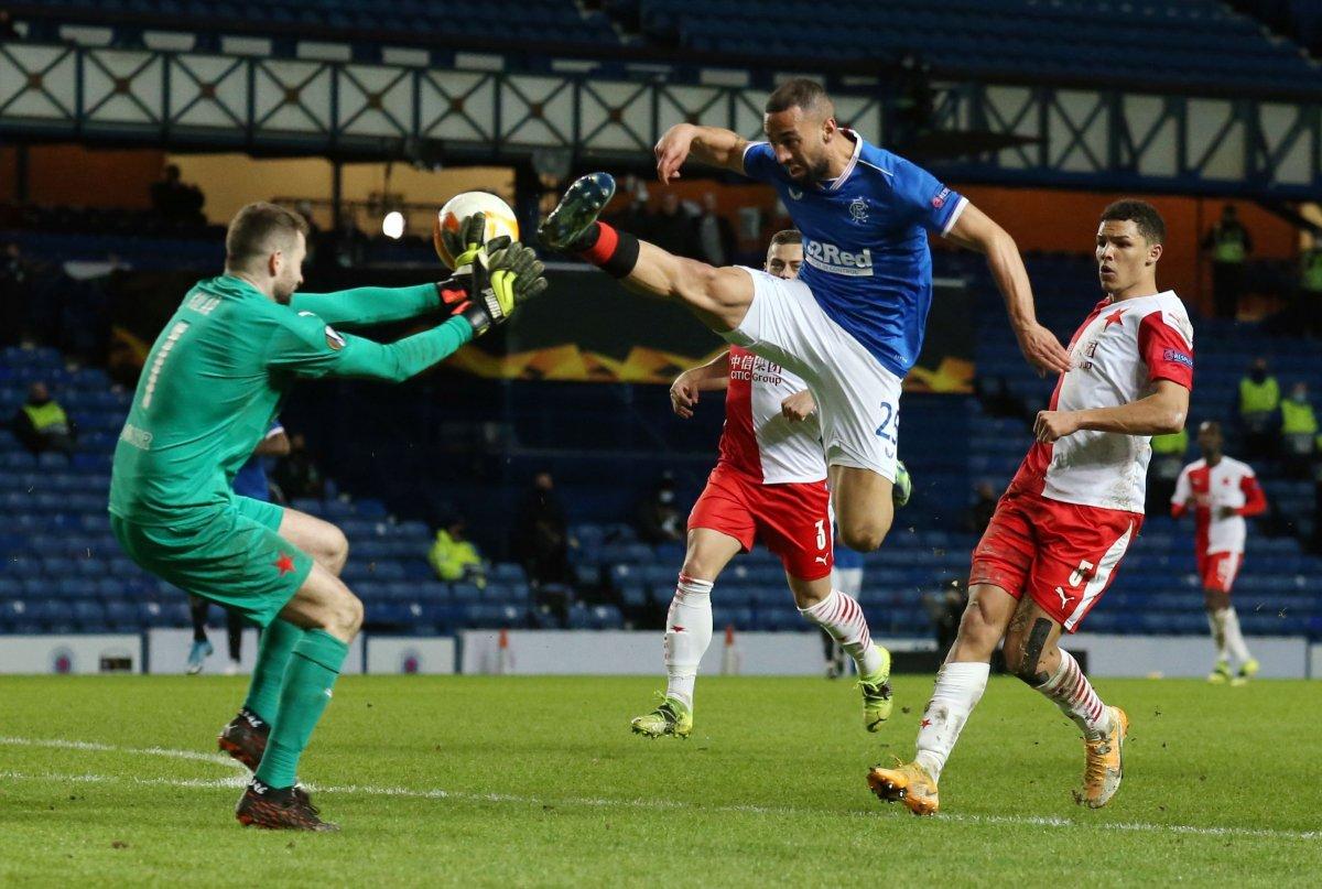 Rangers, Slavia Prag karşılaşmasındaki faul maça damga vurdu #1