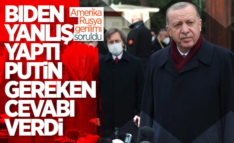 Erdoğan'dan Putin-Biden gerilimine ilk yorum
