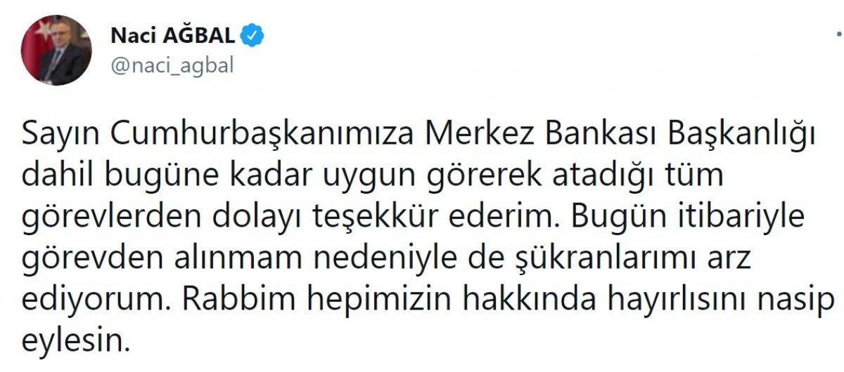 Naci Ağbal: Cumhurbaşkanımıza teşekkür ederim #1