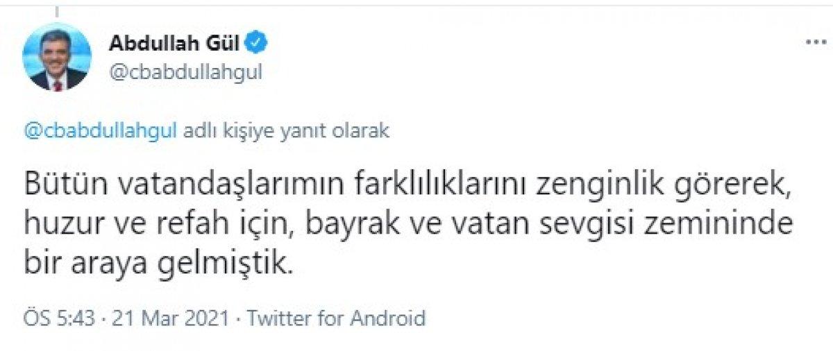 Abdullah Gül den Nevruz paylaşımı  #1