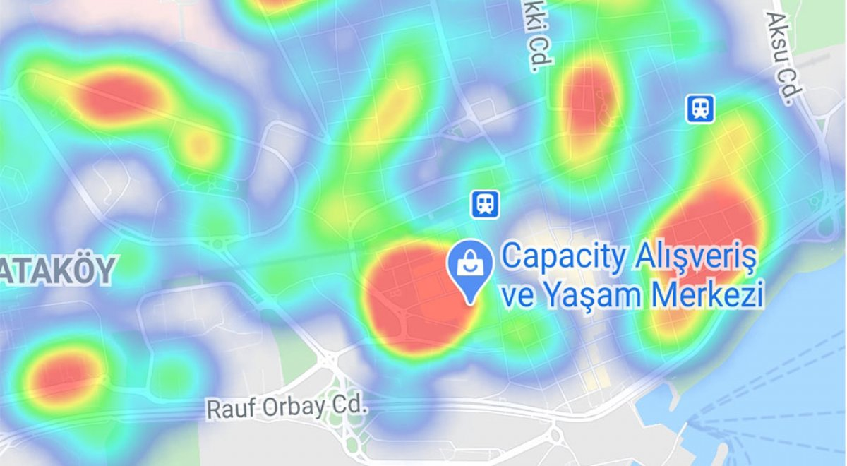 İstanbul da ilçelere göre vaka yoğunluğu #7
