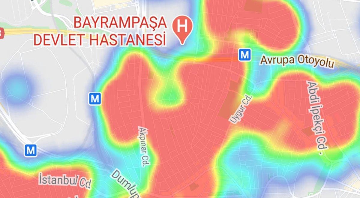 İstanbul da ilçelere göre vaka yoğunluğu #9