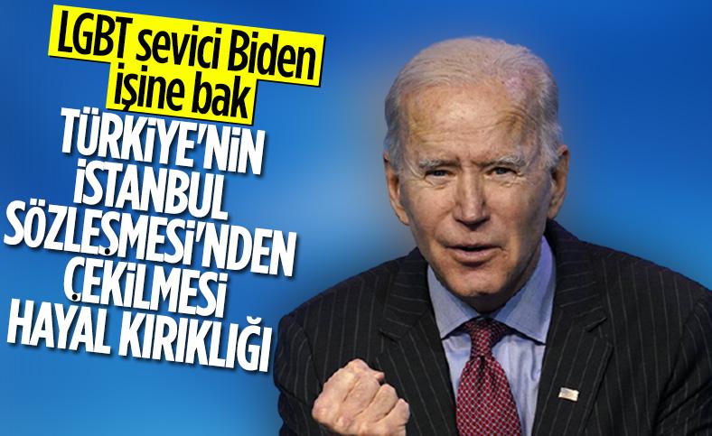 Joe Biden, Türkiye'nin İstanbul Sözleşmesi'nden çekilmesiyle ilgili açıklama yaptı